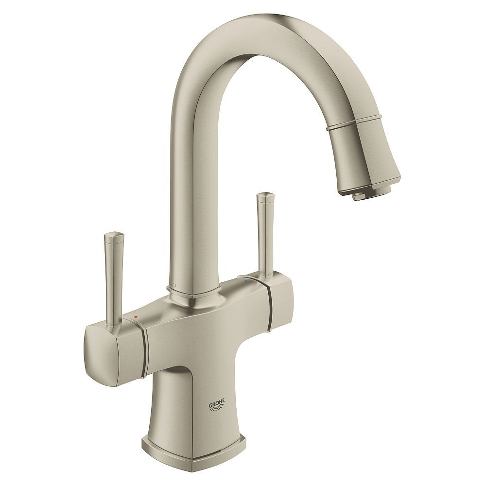 Grohe Grandera L Size Bathroom Faucet With Swivel Spout In Brushed