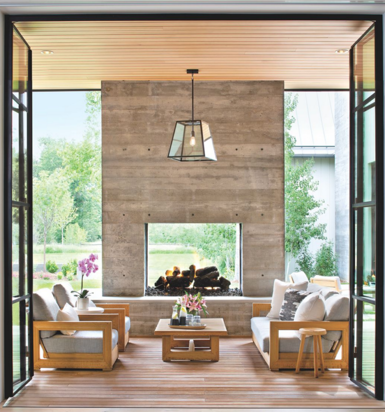 10 Enviable Indoor/Outdoor Living Spaces | Outdoor ... on Farmhouse Outdoor Living Space id=23228
