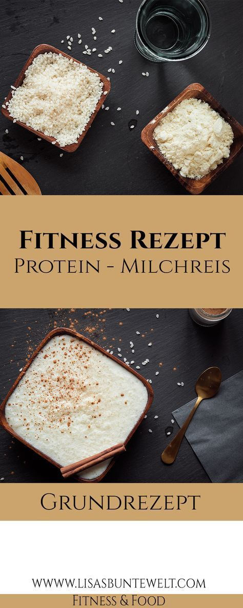 #beste #Der #Fitness #gesunde #ProteinMilchreis #Rezept Protein-Milchreis mit tollen Nährwerten. Zut...