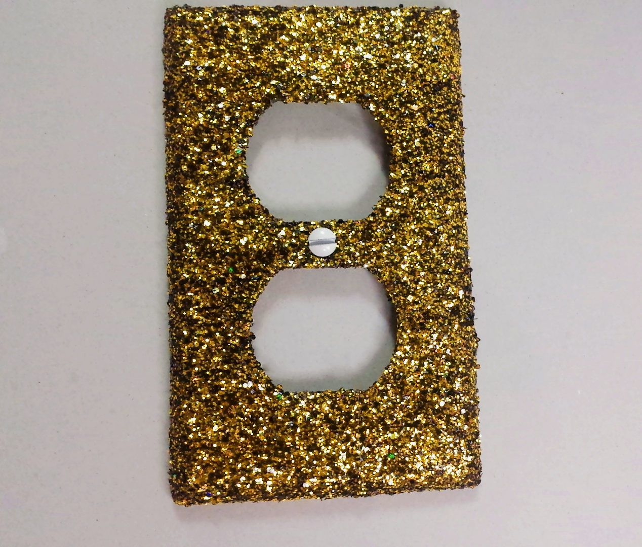 Black Yellow Gold Shiny Glitter Mix Decorative Bling Light Switchplates Outlet Covers Switch Plates Wallplates Wall Plate And Outlets All Ballin On A Budget Dcor By