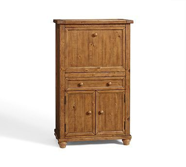 Cortona Office Armoire Potterybarn If Remove Shelf Could Fit Computer