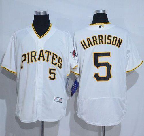 Men's Pittsburgh Pirates #5 Josh Harrison Black 2016 Flex Base Majestic Stitched MLB Jersey