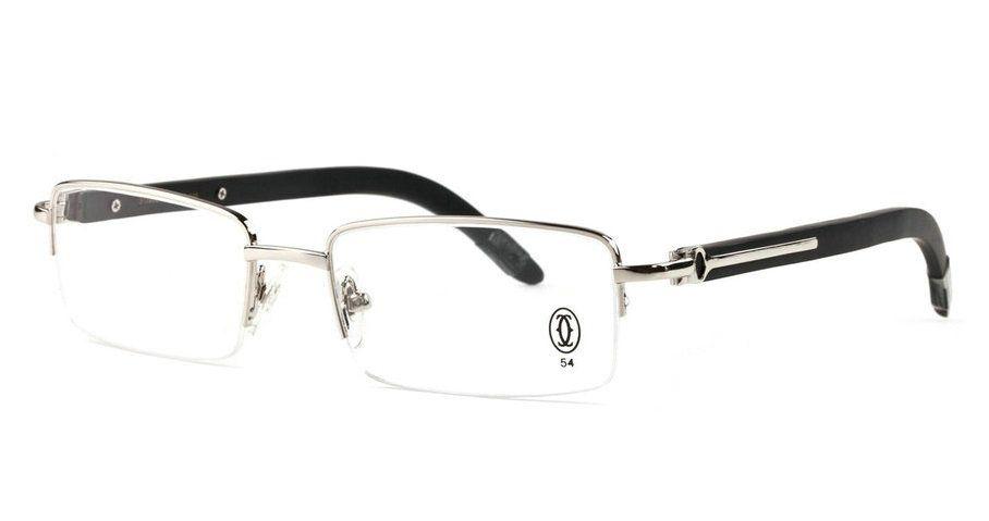 43823478297 Wholesale Cartier Half Rim Wood Frame Glasses for Sale-181