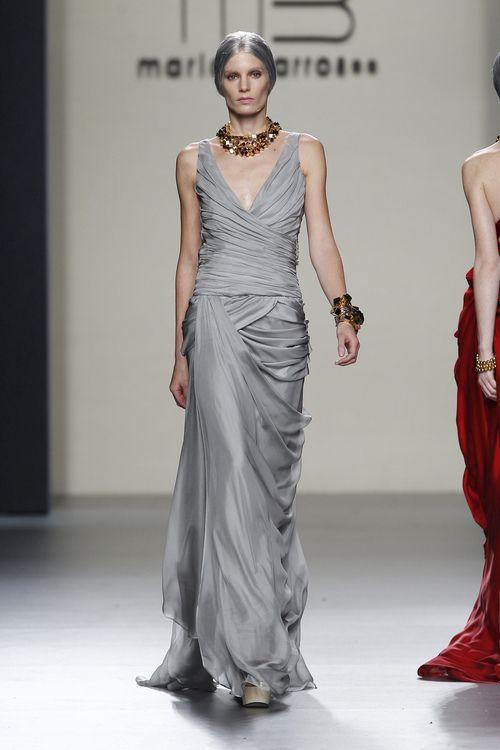Vestido largo de noche en color gris perla de mar a barros - Color gris perla ...