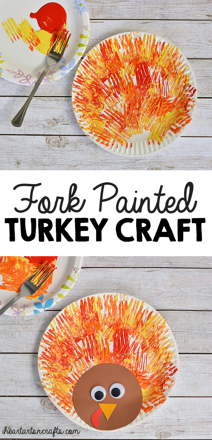 Fork Painted Turkey Craft For Kids - I Heart Arts n Crafts