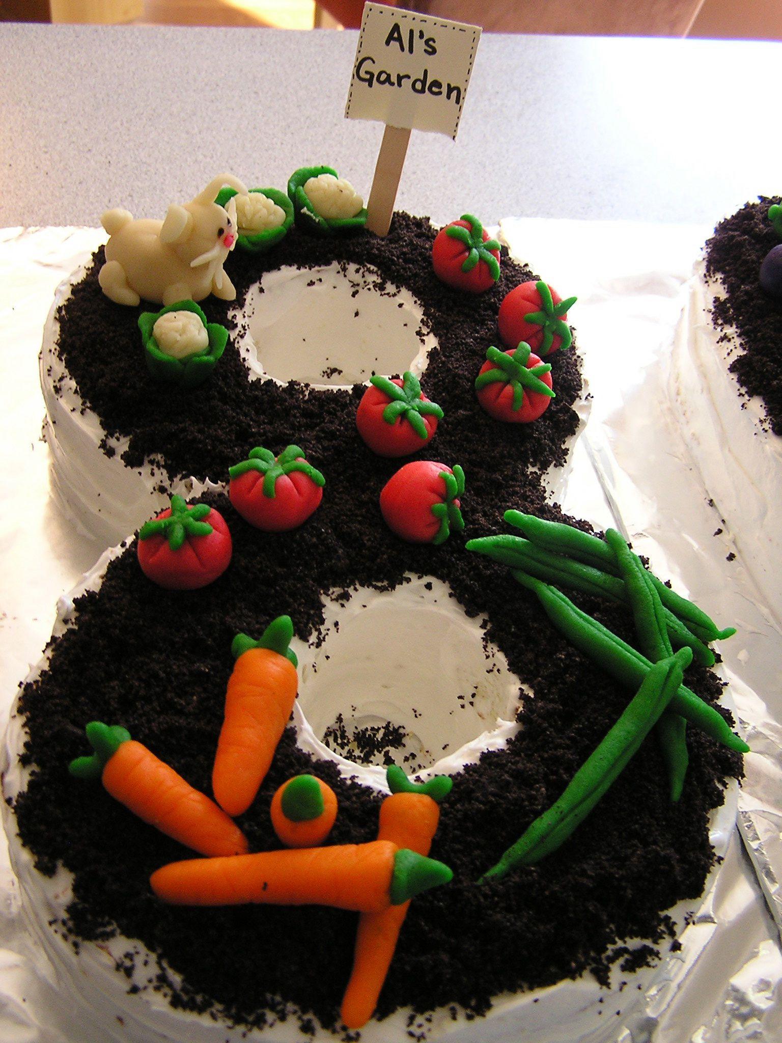 Garden Cake for Dad's 80th birthday. http://nancydamato ...