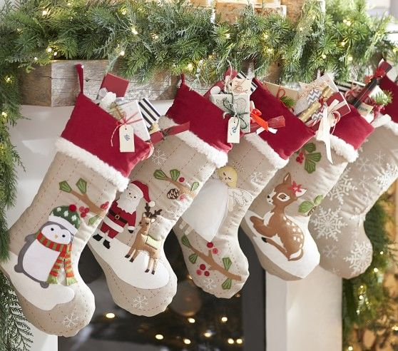 Woodland Stocking Collection Christmas Stockings Christmas Crafts Decorations Kids Christmas Stockings