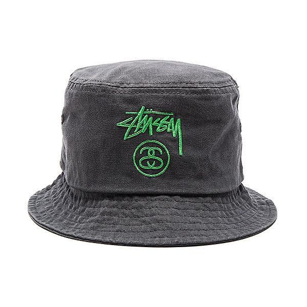 332b5a13d Stussy Stock Lock Pigment Dye Bucket Hat (£31) ❤ liked on Polyvore ...