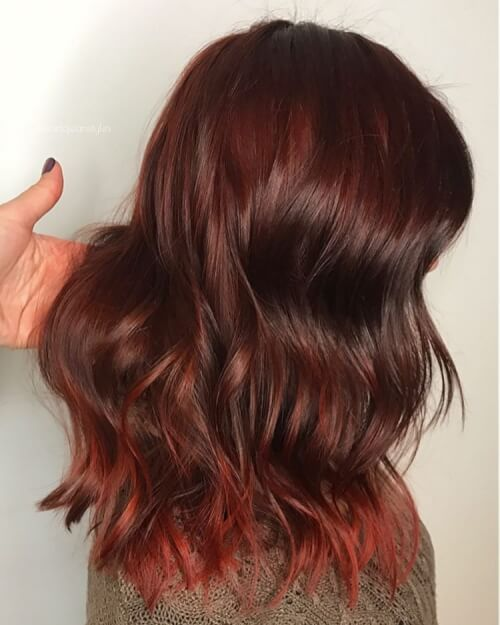 Inner Wild Child Auburn Hair Curly Or Wavy Lobs And Bobs