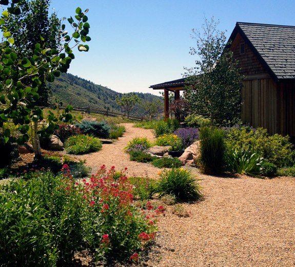 Lawn Begone 7 Ideas For Front Garden Landscapes: Farmhouse Landscaping, Drought Tolerant