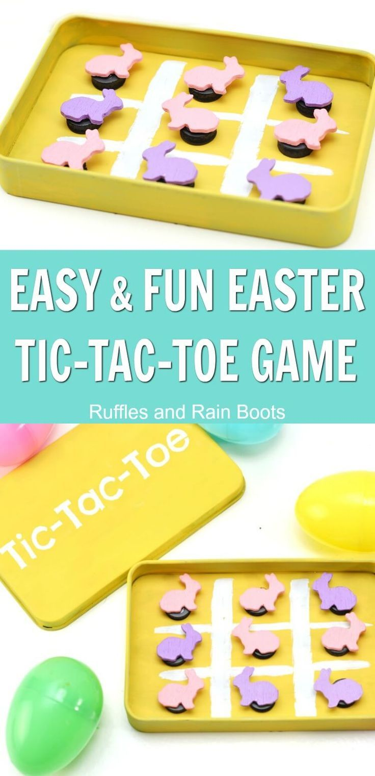 This adorable Easter tic-tac-toe magnetic game uses an empty Altoid tin or candy tin, making it a great recycling craft! It's a quick craft to make and is perfect for road trips is a great Easter basket idea. #easter #eastercraft #DIYeaster #altoid via @momtoelise