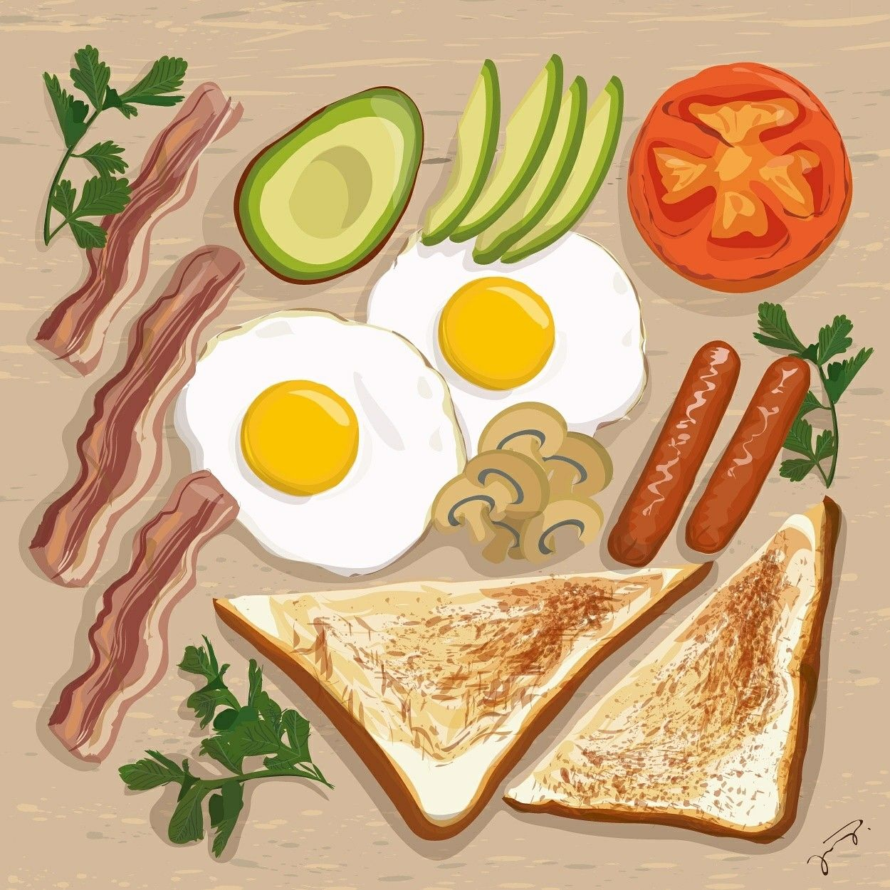 Breakfast All Day All Day Breakfast Illustration Food Inspiration Food Food