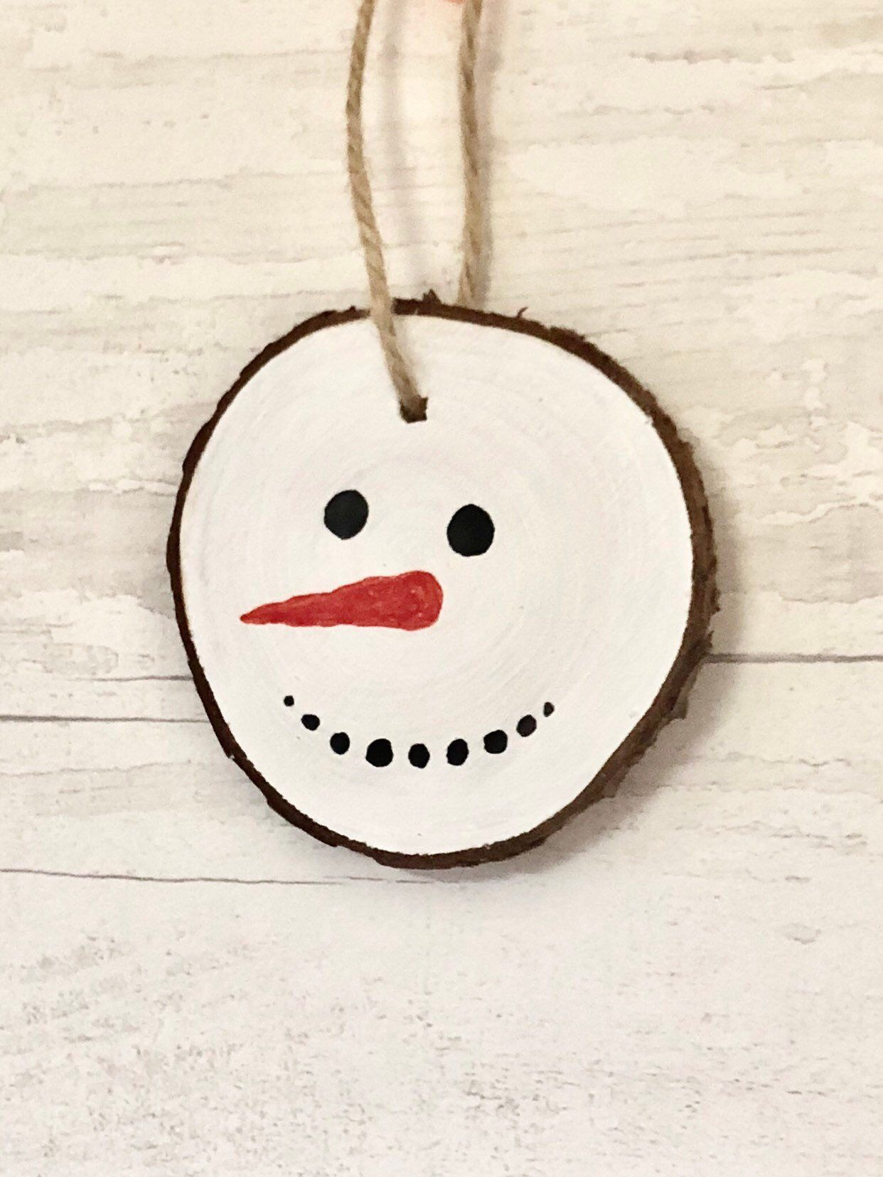 Pin By Glitter Magic Illustration On Glitter Magic Wood Slices Christmas Log Snowman Faces
