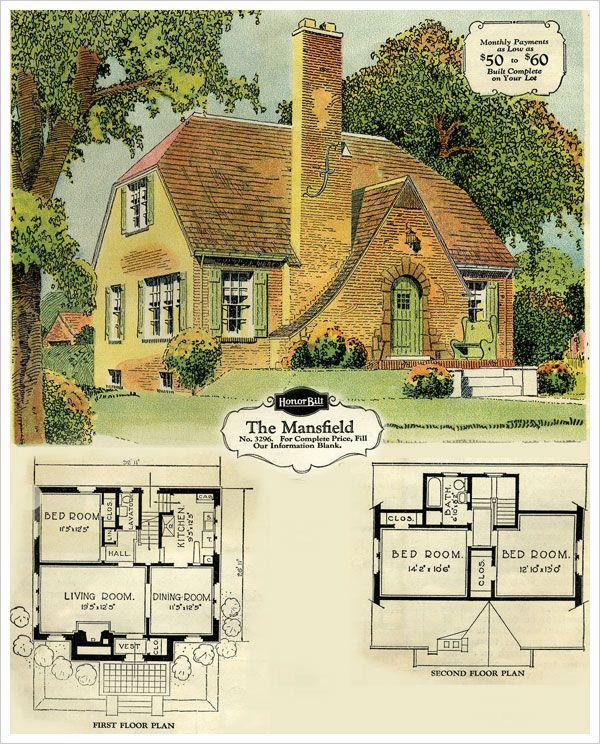 "Sears, Roebuck and Co., Brick Veneer ""Honor Bilt"" Home, The Mansfield, 1929."