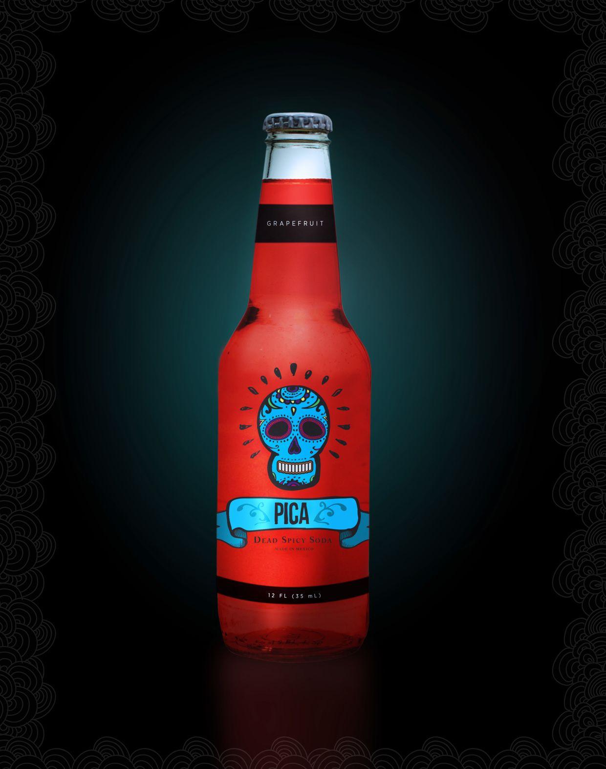 Dead Spicy Soda Wine Bottle Design Packaging Labels Design Food Packaging Design