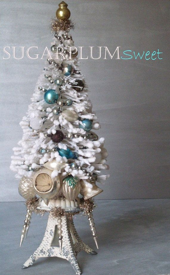 Vintage Bottle Brush Tree French Bon Bon christmas ornaments diy