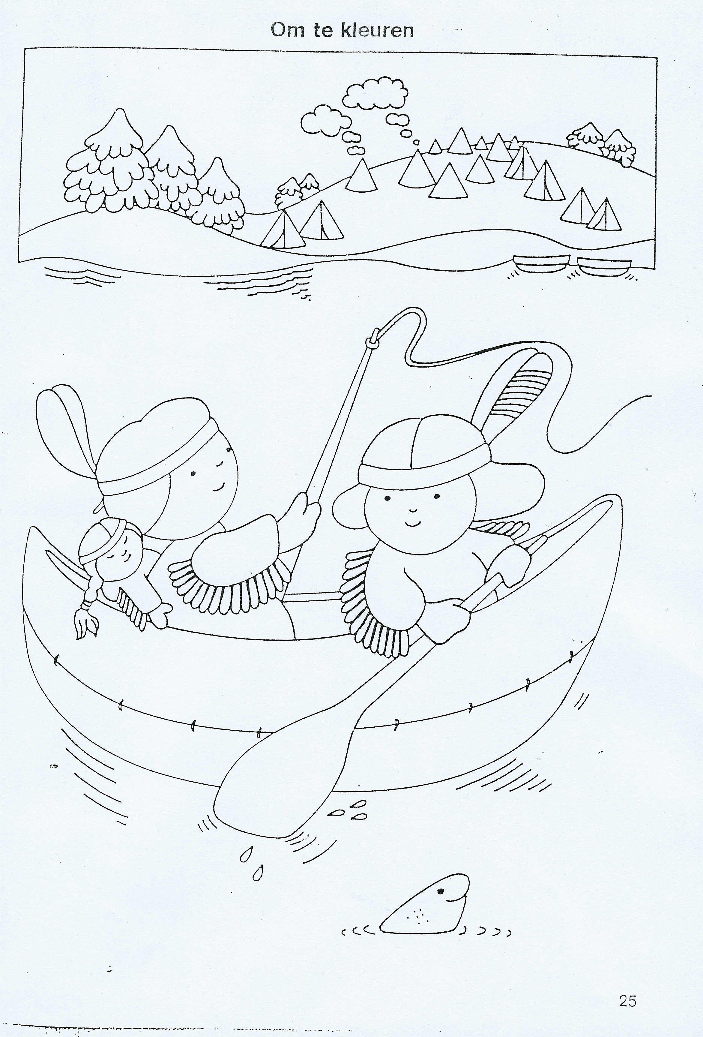 Indian coloring page for the prek | MFW- Adventures | Pinterest ...