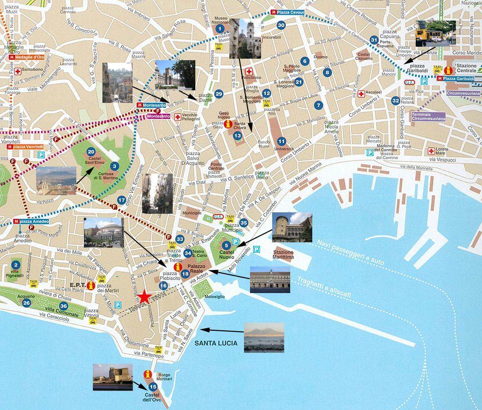 Mapa Turistico Napoles Buscar Con Google Mapa Turistico
