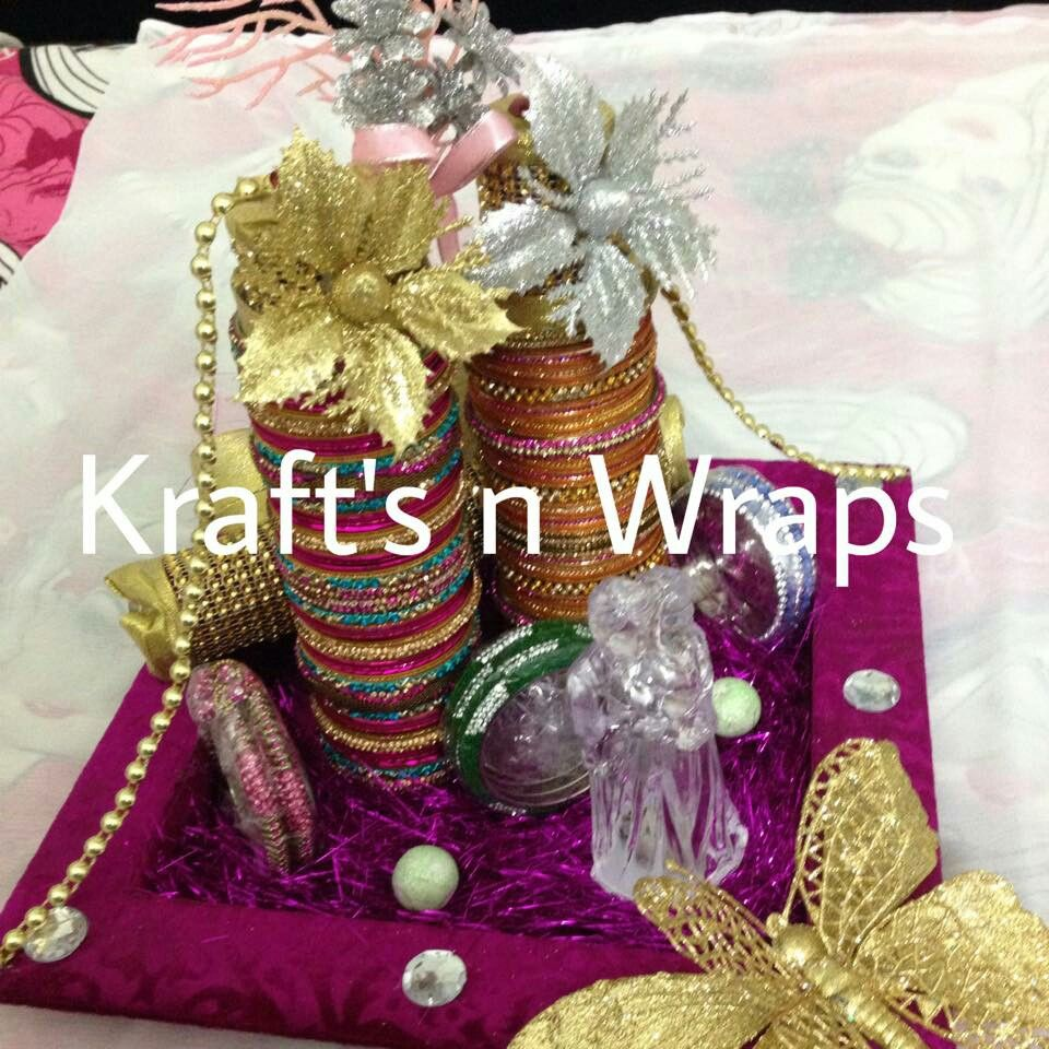 Indian Wedding Tray Decoration: Wedding Gift Wrapping