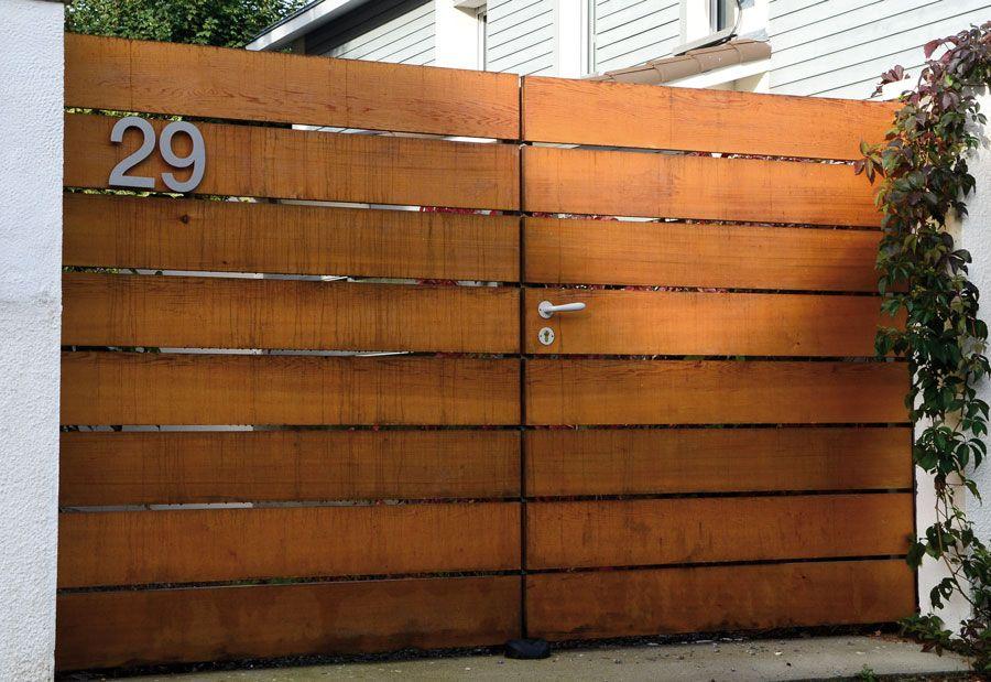 Portail bois blavet portail pinterest portail bois for Fabriquer un portail de jardin en bois