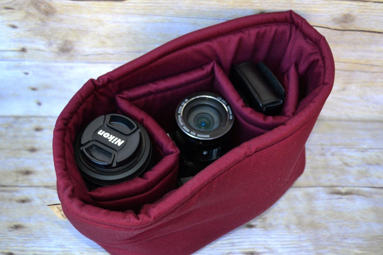 Как вставить фотоаппарат в сумку