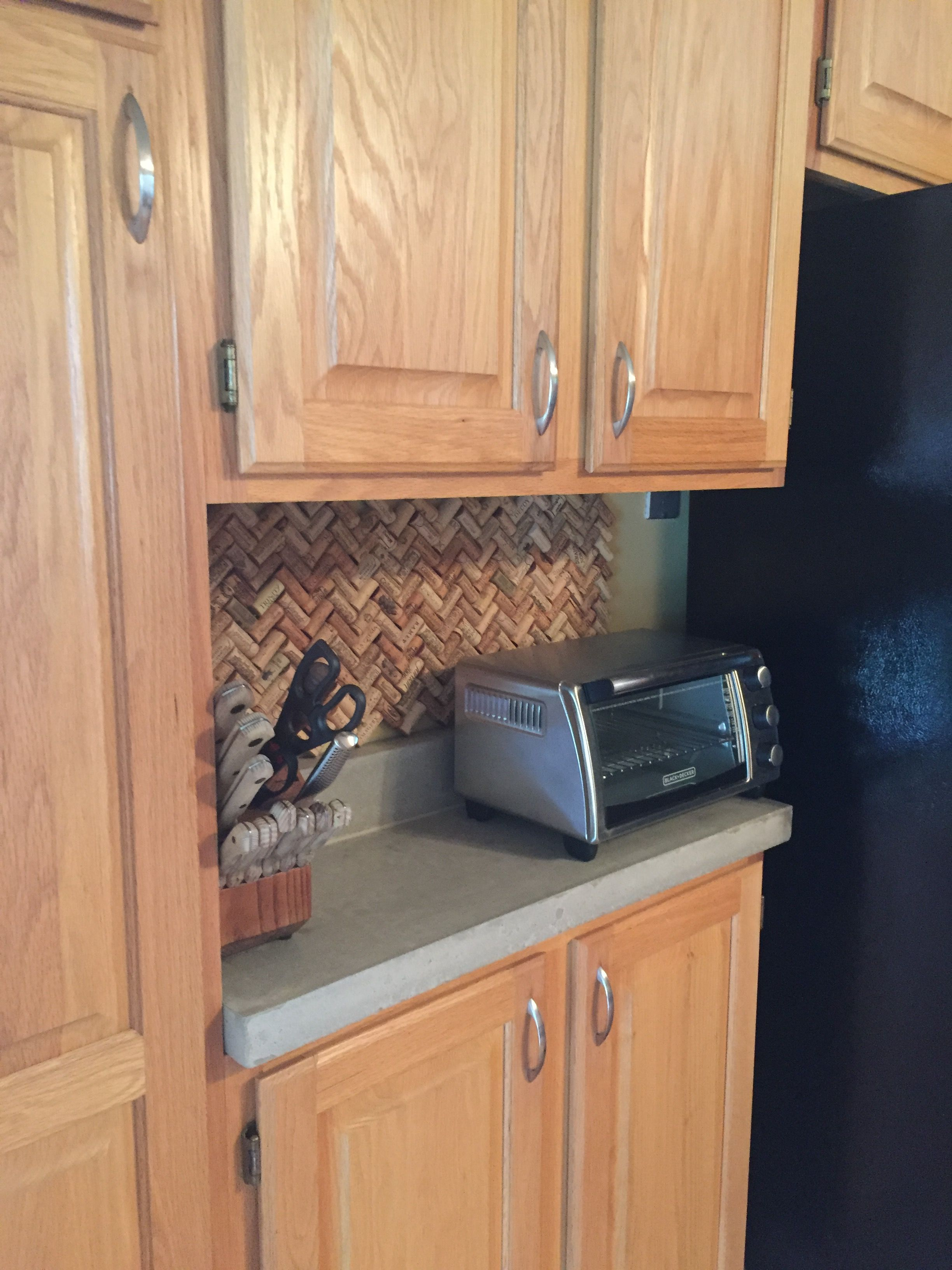 Wine cork backsplash Home diy, Kitchen