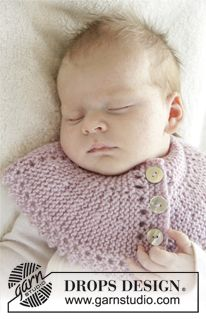 Knitted Drops Neck Warmer With Picot Edge In Karisma Size 0 4