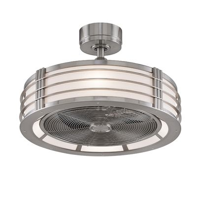 The Bantry Drum Ceiling Fan Brushed Nickel For House Modern
