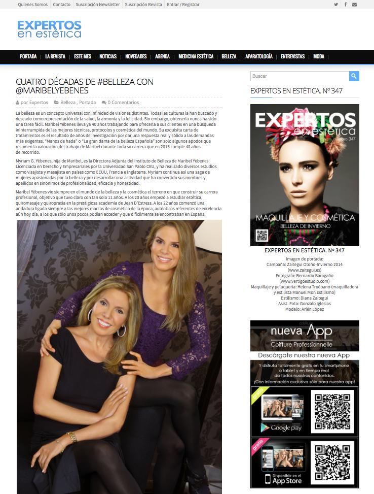 Prensa | Instituto de Belleza y Medicina Estética Maribel Yébenes