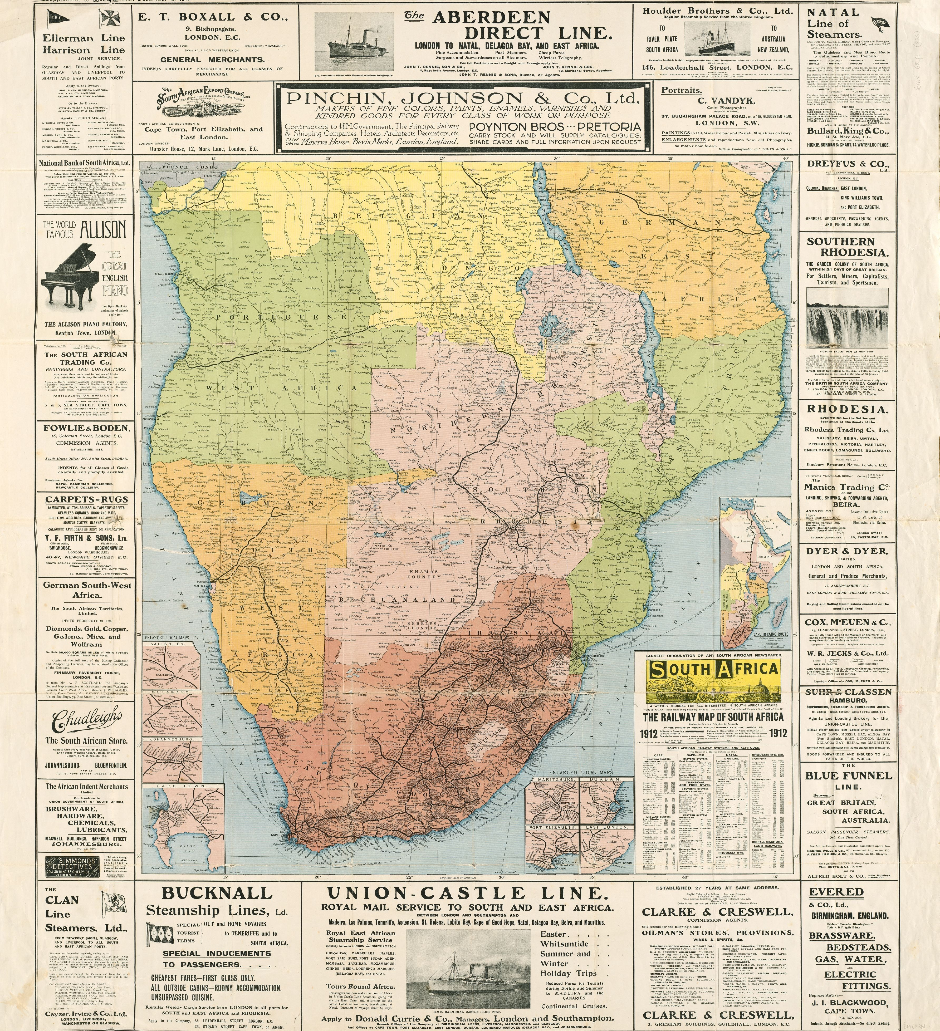 south africa map history