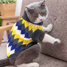 Warm Dog Cat Clothing Autumn Winter Pet Clothes Sweater For Small Dogs Cats