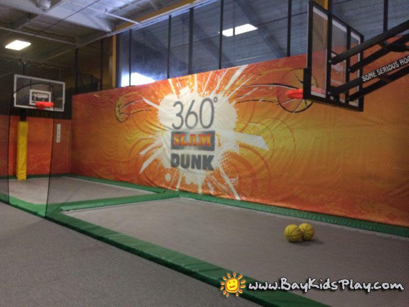 Fremont Rockin Jump Trampoline Park Have A Fun Jump In Basketball Court Http Www Baykidsplay Com Fremont Rockin Jump Trampoline Park Indoor Play Fremont