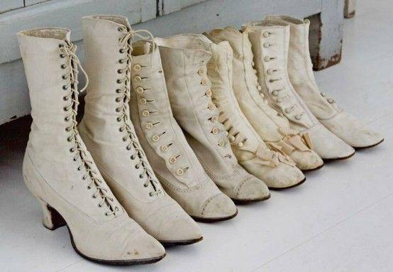Vintage lace up boots by bridget