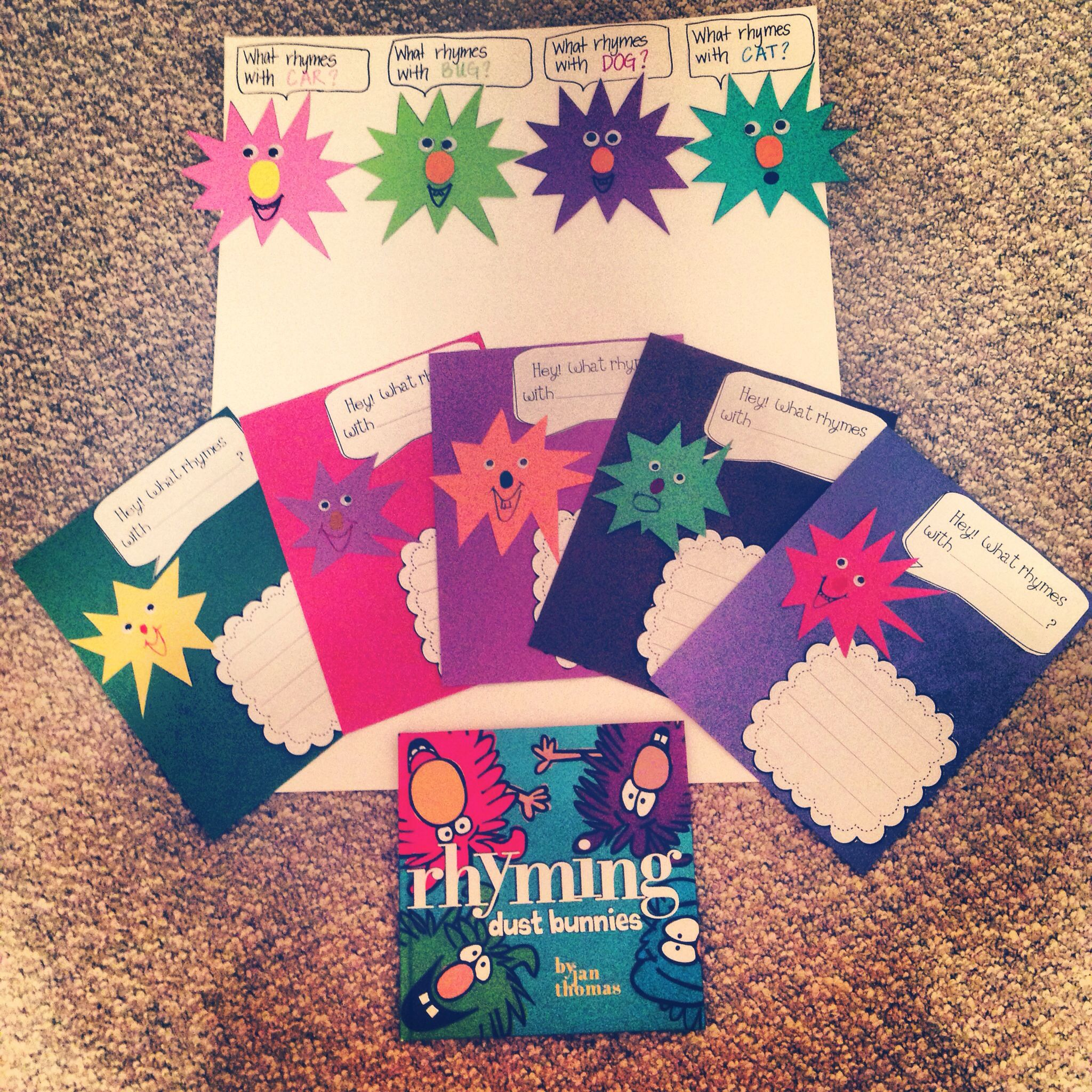 My Finished Product Kindergarten Lesson Plan Rhyming Dust Bunnies Activity Read Book Chart