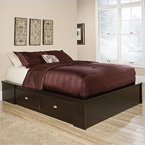 Special Offers - Sauder Shoal Creek Queen Platform Bed in Jamocha Wood - In stock & Free Shipping. You can save more money! Check It (April 16 2016 at 10:01AM) >> http://storagebedsusa.net/sauder-shoal-creek-queen-platform-bed-in-jamocha-wood/
