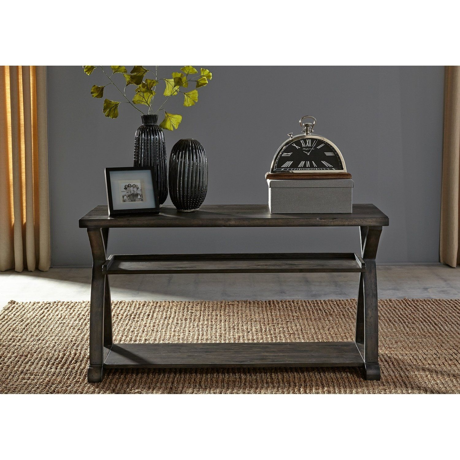 Excellent Twin Oaks Rustic Charcoal Sofa Table Grey Liberty In 2019 Squirreltailoven Fun Painted Chair Ideas Images Squirreltailovenorg