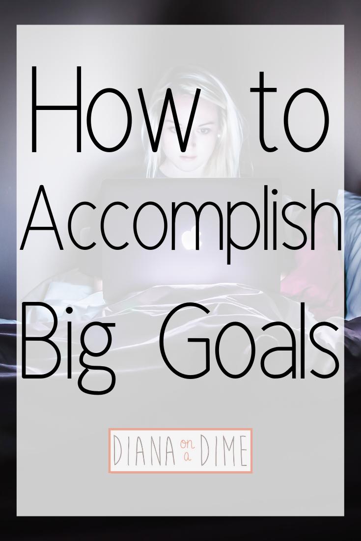 How to Big Goals Budgeting money, Money