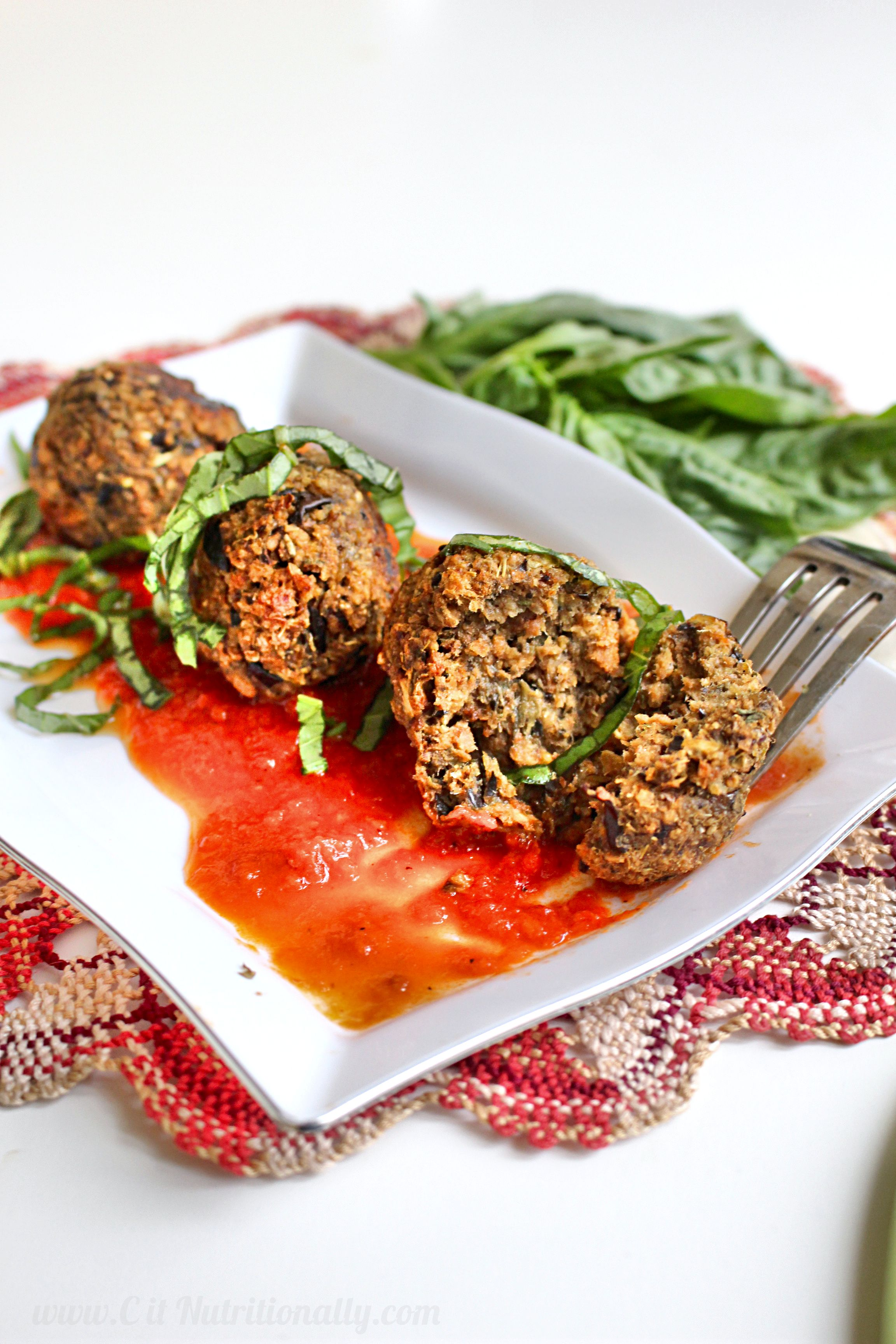 4 Ingredient Vegan Eggplant Balls