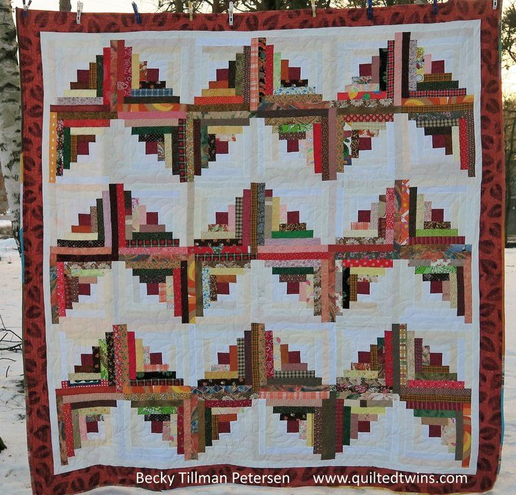 Zigzag Free Quilt Pattern Queen King Size Modern Quilting Quilted Twins