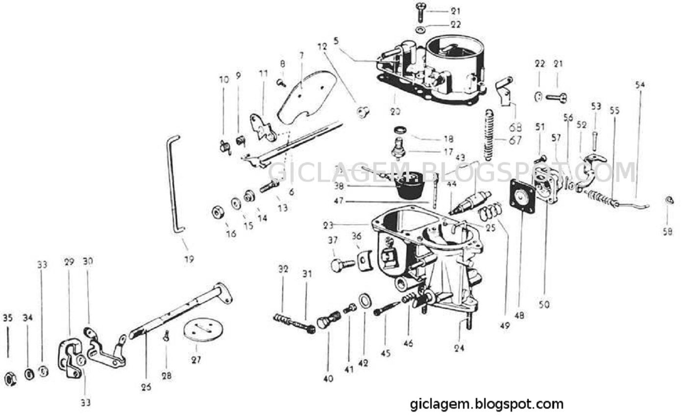 carburador pic 30 solex vw 1300 [ 1400 x 857 Pixel ]