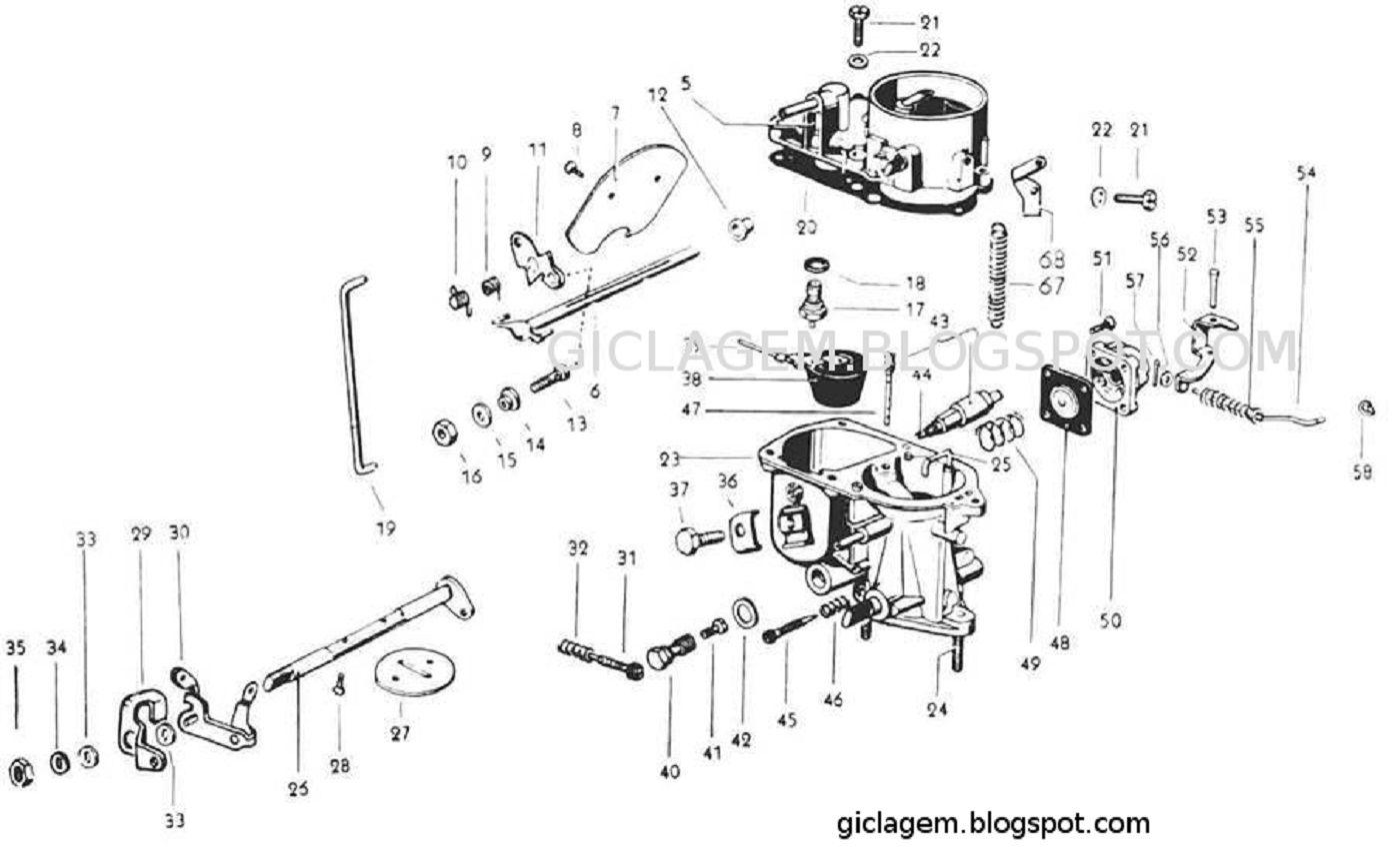 hight resolution of carburador pic 30 solex vw 1300