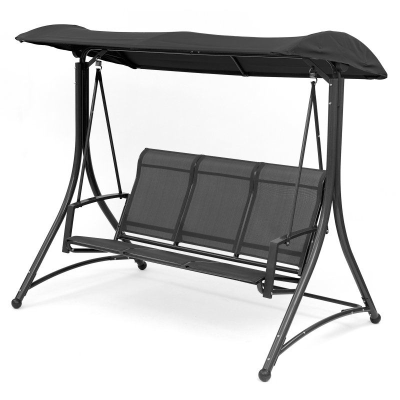 Transcontinental Outdoor Havana Steel 3 Seat Porch Swing with Stand ...