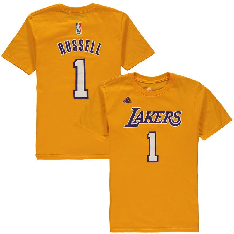uk store lower price with wide varieties D'Angelo Russell Los Angeles Lakers adidas Youth Game Time Flat ...