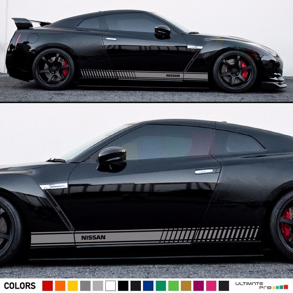 Sticker Decal Graphic Stripe Kit For Nissan GTR R35 Lamp Lip Cover Exhaust  Flare #ultimateprocy1