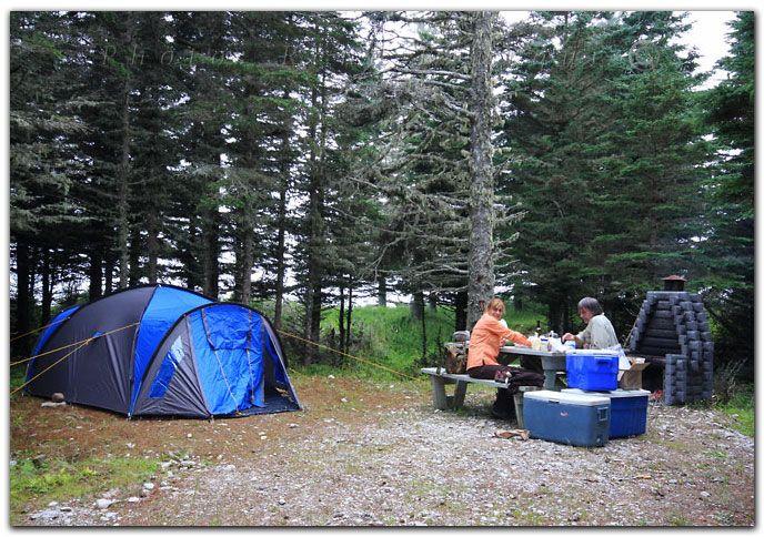 site de camping sur l'île d'Anticosti