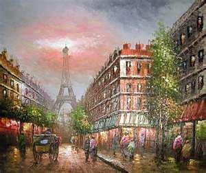... ART > ORIGINAL OIL PAINTINGS > PARIS EIFFEL TOWER OIL PAINTING