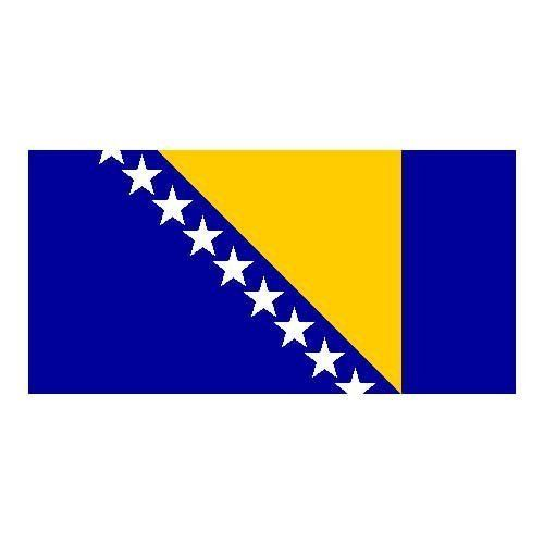 Bosnia Flag 3ft X 5ft Polyester By Us Flag Store 5 73 3ft X 5ft International Flag Finished With 2 Brass Grommets Low Cos Flag Store Herzegovina Flag Flag