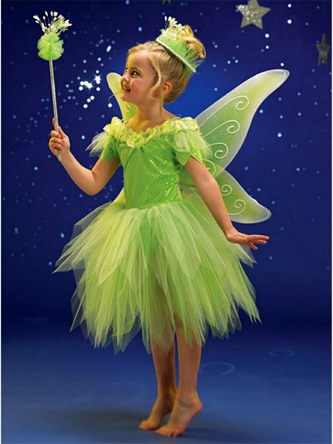 Green Fairy Costume Tinkerbell In 2019 Girls