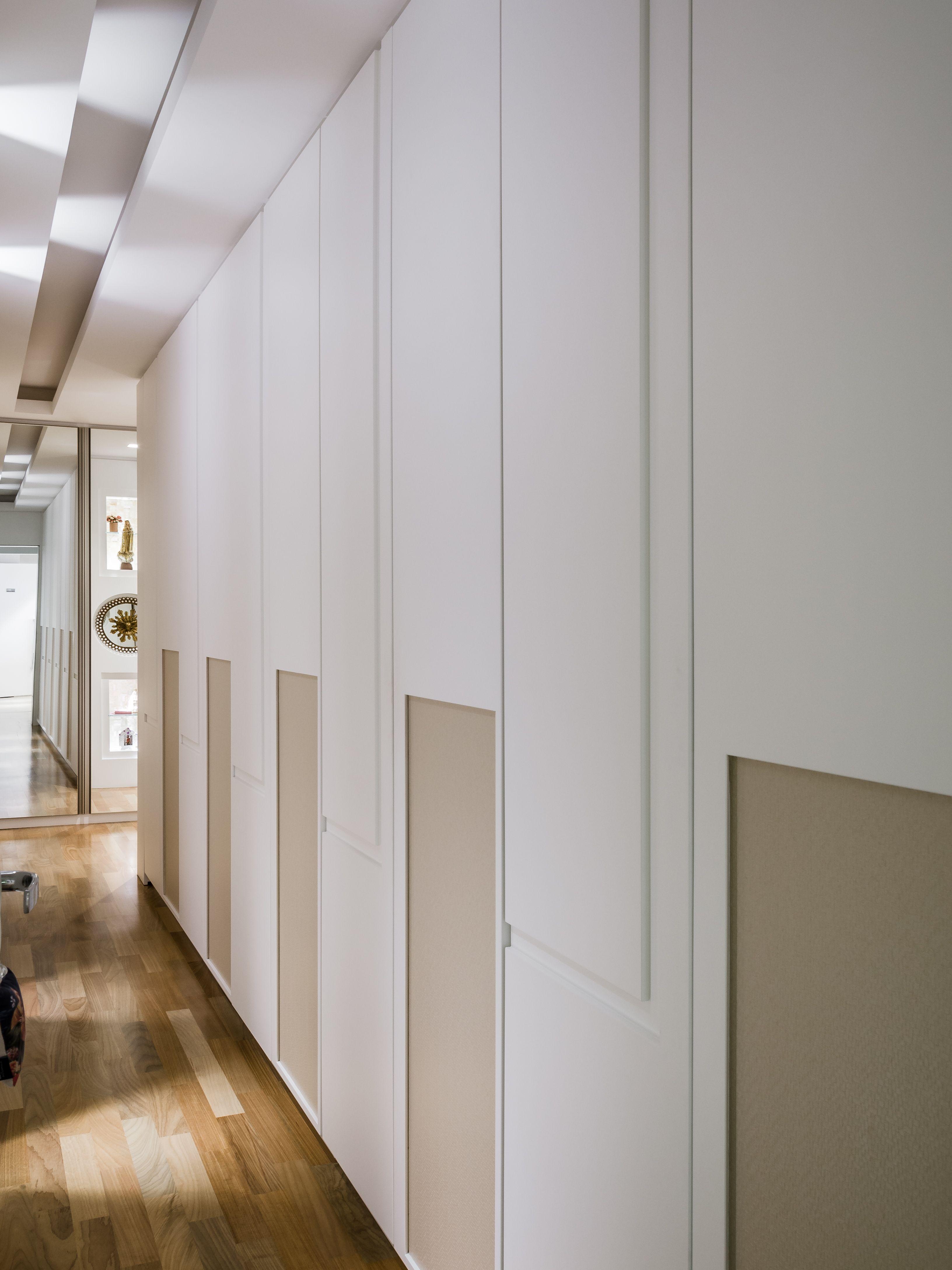 Artesanato Love ~ closet, armário, quarto, corredor, gesso, sanca, armário com papel de parede OKHA  Pinterest