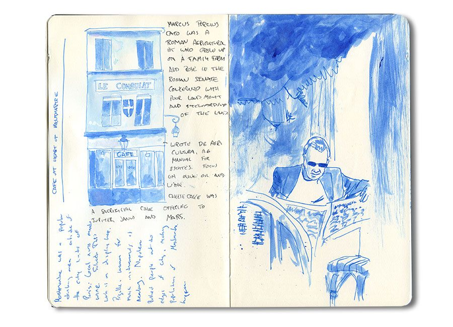 Moleskine Travel Sketch Of The Montmartre Area In Paris France In